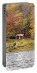 Fall Cabin Portable Battery Charger