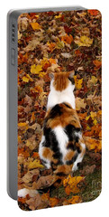 Fall Catitude  Portable Battery Charger