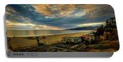 Fall Clouds Over The Bay Portable Battery Charger