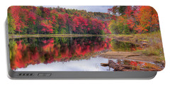 Portable Battery Charger featuring the photograph Fall Color At The Pond by David Patterson