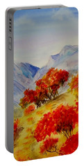 Portable Battery Charger featuring the painting Fall Color by Jamie Frier