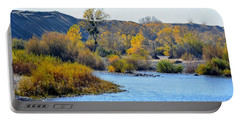 Portable Battery Charger featuring the photograph Fall Color On The Yuba  by AJ Schibig