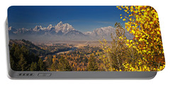 Fall Colors At The Snake River Overlook Portable Battery Charger by Sam Antonio Photography