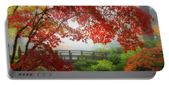 Fall Colors By The Moon Bridge Portable Battery Charger