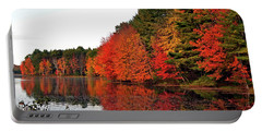Fall Colors In Madbury Nh Portable Battery Charger by Nancy Landry