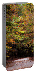 Portable Battery Charger featuring the photograph Fall Colors On The Trail by Shelby Young