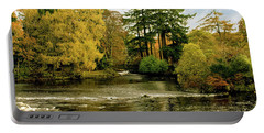 Fall Colour On The River Ness Islands Portable Battery Charger by Jacqi Elmslie