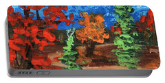 Portable Battery Charger featuring the painting Fall Colours #1 by Anastasiya Malakhova