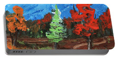 Portable Battery Charger featuring the painting Fall Colours #2 by Anastasiya Malakhova