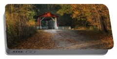 Portable Battery Charger featuring the photograph Fall Covered Bridge by Dale Kincaid