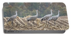 Fall Cranes 2016 Portable Battery Charger by Thomas Young