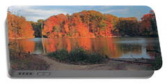 Fall Day At The Creek Portable Battery Charger