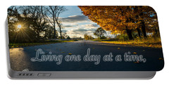 Fall Day With Saying Portable Battery Charger