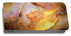 Fall Elm Leaves Portable Battery Charger