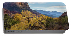 Fall Evening At Zion Portable Battery Charger