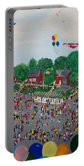 Portable Battery Charger featuring the painting Fall Fair by Virginia Coyle
