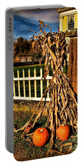 Fall Fence At Hale Farm Portable Battery Charger by Joan  Minchak