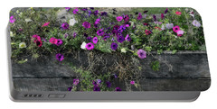 Fall Flower Box Portable Battery Charger by Joanne Coyle