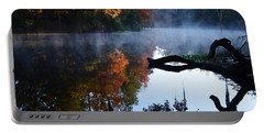 Fall Fog Portable Battery Charger by Warren Thompson