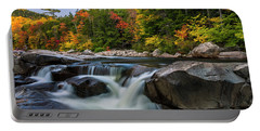 Portable Battery Charger featuring the photograph Fall Foliage Along Swift River In White Mountains New Hampshire  by Ranjay Mitra