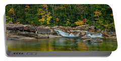 Fall Foliage In Autumn Along Swift River In New Hampshire Portable Battery Charger