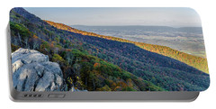 Portable Battery Charger featuring the photograph Fall Foliage In The Blue Ridge Mountains by Lori Coleman