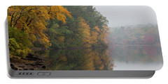Fall Foliage In The Fog Portable Battery Charger by Brian MacLean