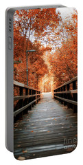 Portable Battery Charger featuring the photograph Fall Foliage In The Heart Of Berlin by Ivy Ho