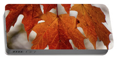 Fall Foliage Portable Battery Charger by Kimberly Mackowski
