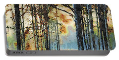 Fall Forest Watercolor Portable Battery Charger