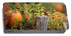 Fall Garden Portable Battery Charger by Cynthia Powell