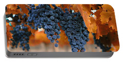 Portable Battery Charger featuring the photograph Fall Grapes Fall Colors by Lynn Hopwood