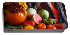 Portable Battery Charger featuring the painting Fall Harvest Still Life by Marilyn Smith