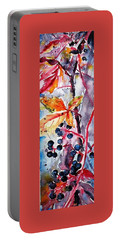 Portable Battery Charger featuring the painting Fall II by Kovacs Anna Brigitta