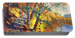 Fall In Bear Mountain Portable Battery Charger