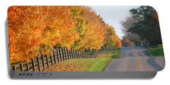 Fall In Horse Farm Country Portable Battery Charger by Sumoflam Photography