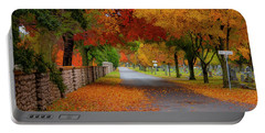 Fall In The Cemetery Portable Battery Charger