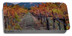 Portable Battery Charger featuring the pastel Fall In Wine Country by Bill Gallagher