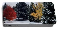 Fall Into Winter Portable Battery Charger
