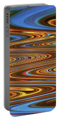 Fall Leaves Abstract Portable Battery Charger by Tom Janca