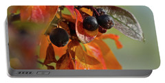 Portable Battery Charger featuring the photograph Fall Leaves And Berries by Ann E Robson