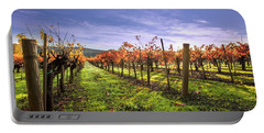 Fall Leaves At The Vineyard Portable Battery Charger
