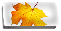 Fall Maple Leaf Portable Battery Charger