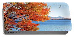 Fall Maple Tree Graces Smith Mountain Lake, Va Portable Battery Charger