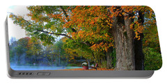 Fall Morning In Jackson Portable Battery Charger