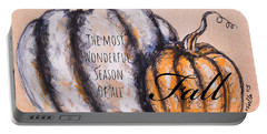 Portable Battery Charger featuring the painting Fall Most Wonderful Season Of All by Monique Faella