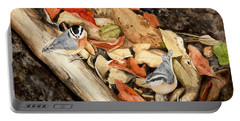 Fall Nuthatch Pair Portable Battery Charger
