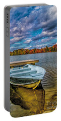 Portable Battery Charger featuring the photograph Fall On Alloway Lake by Nick Zelinsky