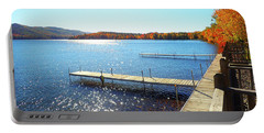 Fall On Lake Dunmore Portable Battery Charger