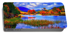 Portable Battery Charger featuring the photograph Fall On Long Pond Acadia National Park Maine  by Tom Jelen